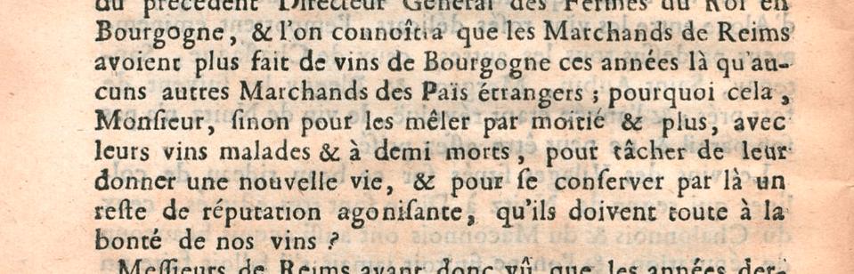 Burgundy vs. Champagne: An 18th Century Flame War